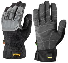 Performance work #gloves with tough reinforcements and padding for durable #protection and a secure grip. EN 388. Ergonomic curved design sculptured for the hand's resting position to minimise restraint and optimise grip. Flexible knuckle guard for superior protection. - Snickers Workwear Artnr. 9584