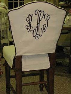 Idea For Monogram Dining Chairs Chair SlipcoversDining Room