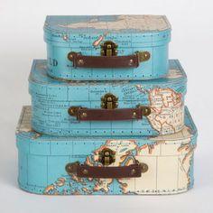 Le set de 3 valises mappemonde