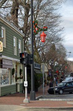 Main Street at Christmas time, Highlands, NC>
