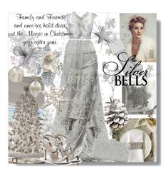 """""""Silver Bells"""" by sheri-gifford-pauline ❤ liked on Polyvore featuring Pier 1 Imports, Ethan Allen, Whiteley, Effy Jewelry, J. Furmani, Verali, Christmas, Silver, holiday and ChristmasTime"""