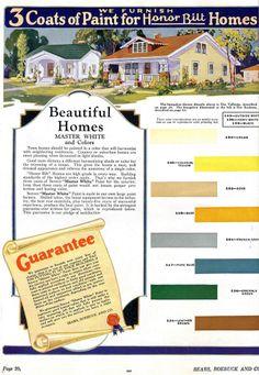 daily bungalow >> 1928 sears kit house paint colors