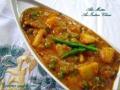 Restaurant Style Aloo Mutter Recipe