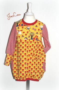 Ballontunika Feli Gr. 92/98 gelb mit Pippi