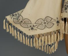 EMBROIDERED WOOL PAGODA SLEEVE JACKET, 1860s.   In the Swan's Shadow