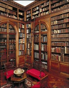 These beautiful libraries include cozy corners for reading amongst floor-to-ceiling grandeur.