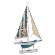 Light-Up Sailboat Statue