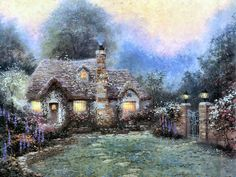 Beyond the Gate ~ Thomas Kinkade