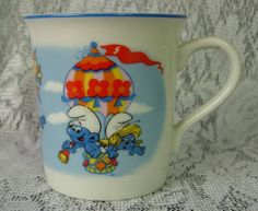 Wallace Berrie SMURF Cup or Mug  Dated 1982 by DustedMemories