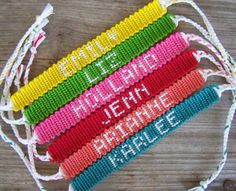 bracelet bresilien colore