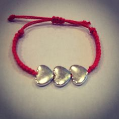 Valentine heart bracelet by AroundMyWrist on Etsy, 10.95
