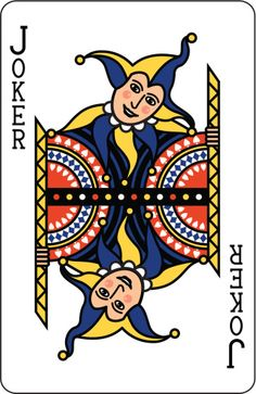 Joker Blue Playing Card