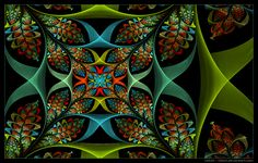 Created with Ultra Fractal 5.04 using 14 layers. This is related to: I'm having way too much fun with this formula+ trapshape combo that I came across! This time I have created a nice, safe cr&#232...