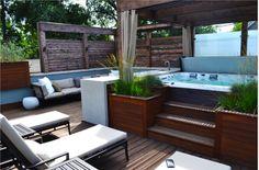 Indoor/outdoor jacuzzi hot tub, spa, Casita