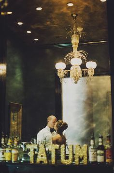 glittery bar letters in the couple's new last name | Ariel Renae #wedding