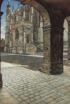 pintoras:Anna Alma-Tadema (English, 1865 - 1943): Eton College Chapel (via Sotheby's)