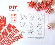 Bastelset - DIY Lucky Stars rot/weiß gepunktet - ein Designerstück von julicadesign bei DaWanda