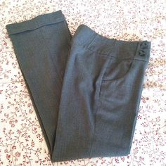 Grey Cuffed Dress Pants Grey cuffed slacks with button details on the front. Side zip. Inseam is approximately 30 inches. H&M Pants Trousers