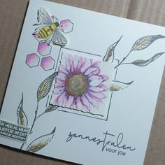 Bee Cards, Punch Art, Hand Stamped, Different Colors, Birthday Cards, Scrapbook, Petra, Stamps, Ideas