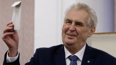 Milos Zeman is in front as votes are counted, but the election is expected to go to a second round.
