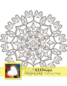 Sunflower Mandala In Blue So Cool To See One Of My Designs As A