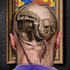 This tattoo based off an M.C. Escher piece is so realistic looking that it's spooky. #inkedMagazine #inked #3D #art #tattoo #tattoos