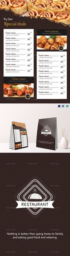 modern restaurant menu template 21 formats included