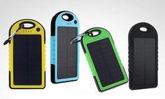 Batería externa power bank panel solar portátil de 5.000 mAh