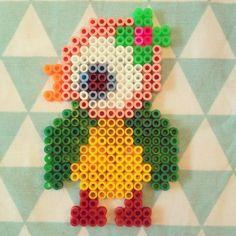strijkkraal patroon vogeltje van Jojojanneke Perlerbead pattern bird, design Jojojanneke