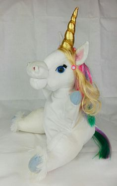 Unicorn puppet made by art-berloga.com Emotional Messages, Bunny And Bear, Puppet Making, Handmade Toys, Puppets, Unicorn, Plush, Christmas Ornaments, Holiday Decor