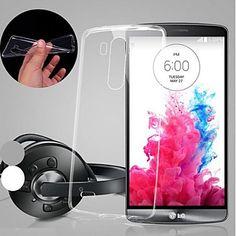 tampa da caixa - Transparentes - TPU - Capa Traseira - para LG G3 – BRL R$ 11,39