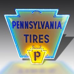 Vintage neon Pennsylvania Tires sign from The Games Room Company's Lighting selection Vintage Neon Signs, Interior Lighting, Game Room, Pennsylvania, Cool Stuff, Bobs, Games, Design, Products