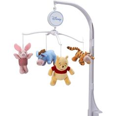 Disney Baby - Winnie the Pooh Mobile    The Disney Baby Winnie the Pooh Mobile with Nursery Organizer is the perfect finishing touch to baby's nursery. A great two-in-one value, this set will add a touch of whimsy to any look.  $23.00