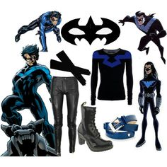 Cosplay Ideas, Costume Ideas, Costumes, Superhero Villains, Comic Movies, Super Heros, Nightwing, Character Outfits, Inspired Outfits