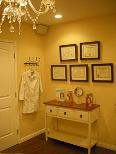 shipwrecked in paradise: {spa redesign: Aesthetic Genesis Medical Spa} Massage Therapy Rooms, Massage Room, Spa Massage, Spa Treatment Room, Spa Treatments, Facial Room, Spa Room Decor, Esthetics Room, Spa Interior