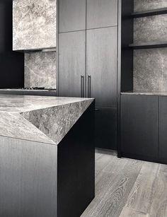 TGIF Townhouses - G-LUX Home Interior, Interior Design Kitchen, Interior Architecture, Interior Decorating, Black Kitchens, Cool Kitchens, Layout Design, Contemporary Kitchen Design, Beautiful Kitchens