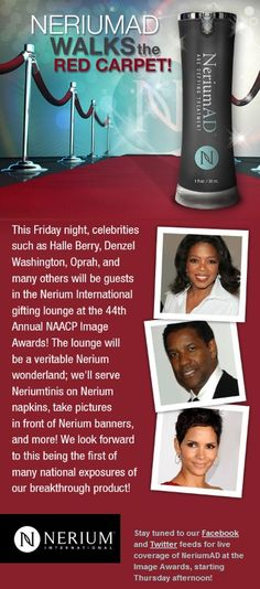 #Nerium HOT! 1/31/2013 will be the first and not last Nerium AD Walks the RED CARPET! To learn how you can get your REAL RESULTS with  Nerium AD GO to http://merylandry,nerium.com  Buy your Nerium & learn more at www.merylandry.nerium.com