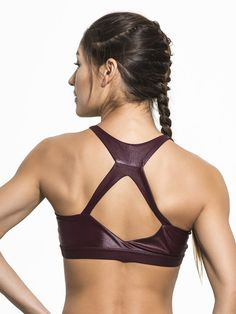 a353248ec2 Ion Medium Support Sport Bra in Windsor Wine by Carbon38 from Carbon38 Tank  Tops