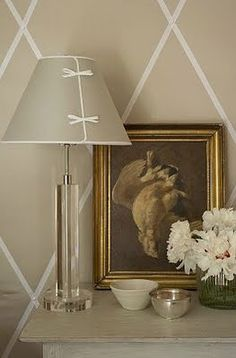 Love the lampshade, cute but not fussy