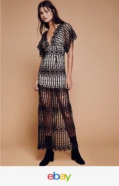 c13887d3cf9 NWT Free People Night Whispers Lace Maxi Dress