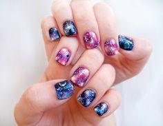 Pretty Squared: Galaxy Nails - Nail Art Tutorial