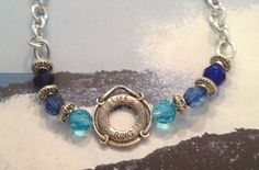 Natical silver necklace featuring a life ring by spreadblessings, $12.00