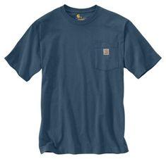 Carhartt Workwear Pocket T-Shirts for Men - Stream Blue - XL