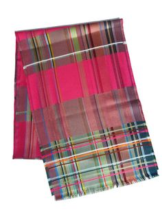 Scarf Silk Colorblock Pink Wallace And Sewell from IMPERIO jp