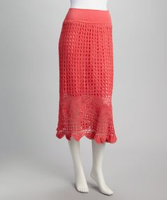 Take a look at this Coral Crocheted Skirt by Raviya on #zulily today!$22.99, regular 54.00