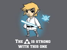 A Link To The Stars by TeeTurtle - The Triforce Is Strong With This One - Star Wars x Legend of Zelda tshirt
