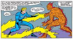 Human Torch vs The Original Human Torch °° Fantastic Four 1, Mister Fantastic, Comic Book Frames, Comic Books, Jim Steranko, Joe Kubert, Comic Book Collection, Continuous Line Drawing, Steve Ditko
