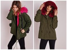 #parka #trend #ecofashion #fauxfur #fakefur #crueltyfree @missguided #military #streetstyle #lovecost #fashion #lifestyle Rain Jacket, Bomber Jacket, Fake Fur, Missguided, Parka, Windbreaker, Military, Street Style, Lifestyle