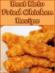 This keto fried chicken recipe is here to show you that the best fried chicken doesn't come in a bucket, a frozen container, or from a restaurant chain. Keto Foods, Ketogenic Recipes, Keto Snacks, Low Carb Recipes, Diet Recipes, Cooking Recipes, Ketogenic Diet, Diet Tips, Pork Rind Recipes