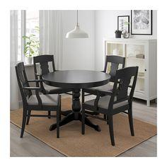 Ikea Ingatorp Ingolf Table And 4 Chairs Black Nolhaga